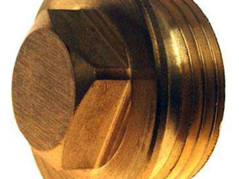 Tapon de Bronce anodo de zinc grande